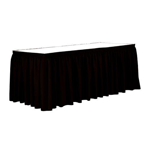 Ultimate Textile 7 ft. Shirred Pleat Polyester Table Skirt - 36