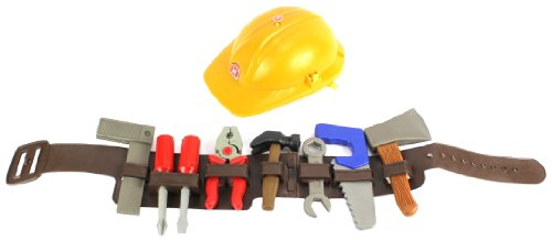 [Lil Handy Man Pretend Play Children's Toy Tool Belt Set, Perfect for your Little Builder] (Tool Belt Costume)