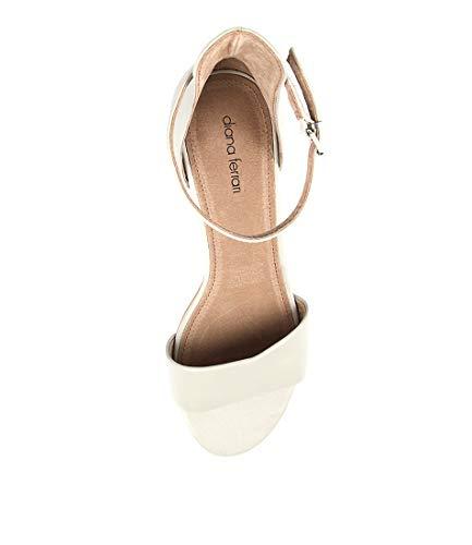 Womens DIANA Womens SOCO Leather Stone Heels Shoes FERRARI 77wS8I