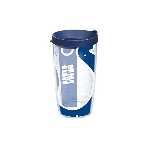 Indianapolis Colts Nfl Tumbler (Tervis NFL Indianapolis Colts Colossal Wrap Individual Tumbler with Lid, 16 oz, Clear)