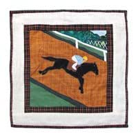 Patch Magic Derby Toss Pillow, 16-Inch by 16-Inch
