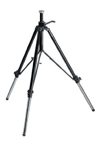 Manfrotto 117B Geared Video Tripod with Rubber Feet and Retractable Metal Spikes (Black)