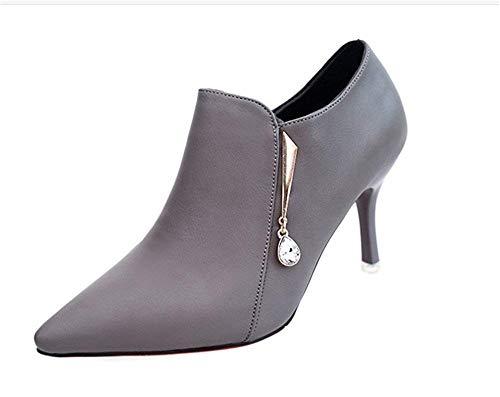 Short 's Shoes Botas Boots S Cortas 34 Para Women' Zipper Elegant Side Mujer Eu Deed AxXqgIwZZ