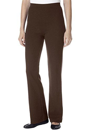 Women's Plus Size Petite Pants, Boot-Cut In Ponte Knit Ch...