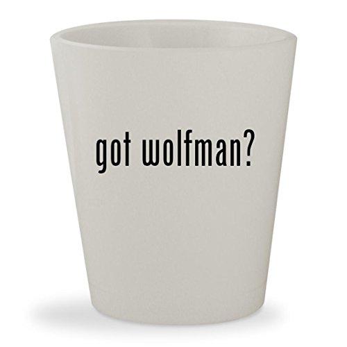 Costume Van Wolf Helsing (got wolfman? - White Ceramic 1.5oz Shot)