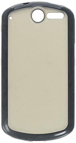 (MYBAT HWU8800CASKGM0027NP Sensual Gummy Transparent Protective Case for Huawei Impulse 4G/8800-1 Pack - Retail Packaging - Smoke/Solid Black)