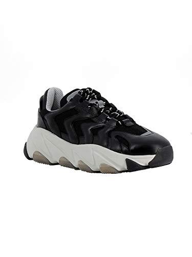 Mujer Cuero Ash Zapatillas Negro Extremeblk 5qX5x8zw