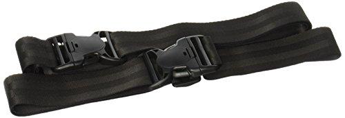 Colecciones BYP Arnés de Seguridad de Doble Cinturón para Niño y Adulto, color Negro