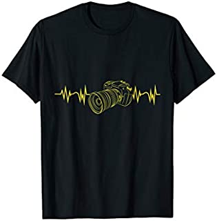 Camera Heartbeat for Photographer T-shirt | Size S - 5XL