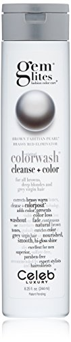 Gem Lites Color Depositing Shampoo: Gem Lites Brown Tahitian Pearl Cleansing Colorwash, (Moisture Light Shampoo)