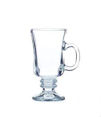 Libbey 8-1/2-Ounce Irish Coffee Mug, Clear, Box of 12