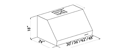 Z Line 432-30 1200 CFM Under Cabinet Range Hood