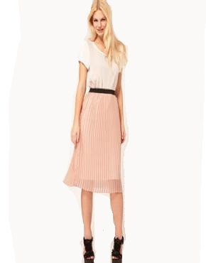 97ee33d1a15b ASOS Pleated Midi Skirt with Contrast Waistband (6)  Amazon.co.uk  Clothing