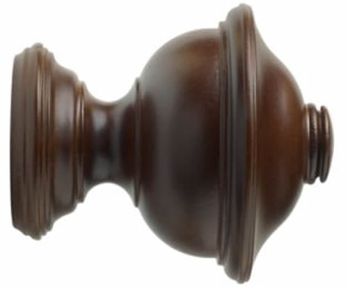 Kirsch Wood Trends Classics Chaucer Finial, for 1 3/8'' pole, Coffee (MPN# 36807841) by Kirsch (Image #2)