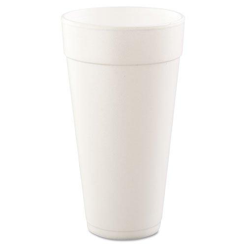 Dart Conex Foam Cup, 24 oz., Hot/Cold, White, 25/Bag - 20 bags of 25 cups. 500 per case.