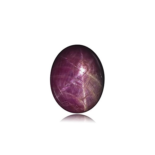 Mysticdrop 3.55-7.58 Cts of 10x8 mm AA Oval Indian Star Ruby (1 pc) Loose Gemstone