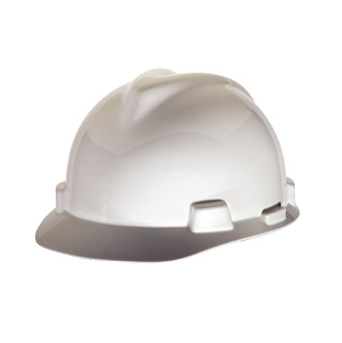 Msa Safety 10057441 V Gard Protective Cap With 1 Touch Suspension  White  Standard