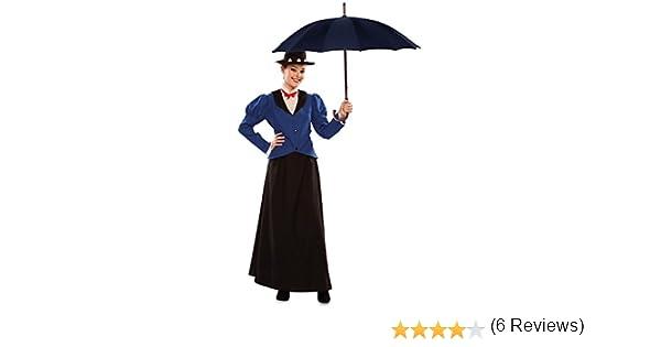 Disfraz de Niñera Inglesa para mujer: Amazon.es: Juguetes y juegos
