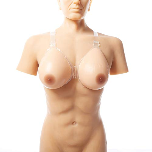 Love of Life Silicone Breast Forms with Strap-on Waterdrop Fake Boobs for Crossdresser Transgender Mastectomy Cosplay,3,CupG/2400g/Pair/13.47.93.7inch