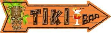 Smart Blonde Outdoor Decor Tiki Bar Novelty Metal Arrow Sign A-173 - Novelty Metal Signs