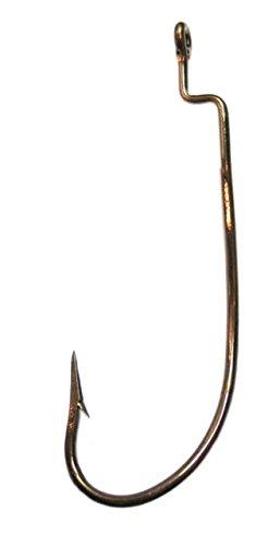 Lazer Sharp Z-Bend Rotating Worm Fishing Hook, Bronze