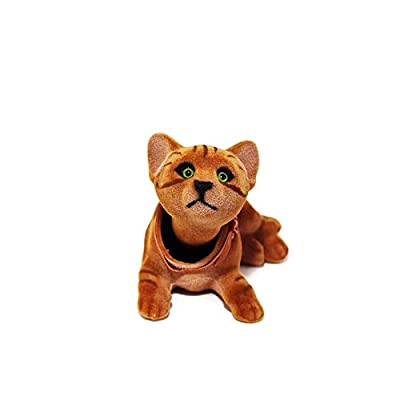 Batty Bargains Playful Bobblehead Kitten Cat with Auto Dashboard Adhesive (Brown): Toys & Games