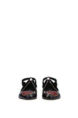 Pelle amp;Gabbana EU Nero Donna Ballerine Dolce CB0097AM292 qUdntwUR