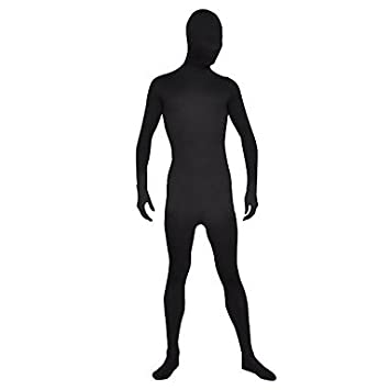 Negro Unisex monocolor de licra Spandex Zentai traje male-m ...