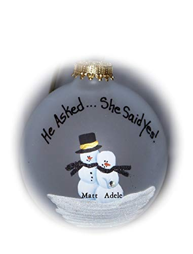 He Asked.She Said Yes! Ornament