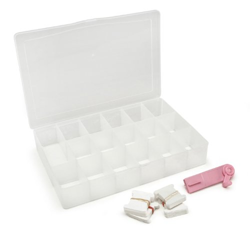 Darice Floss and Needlework Organizer with 100 Paper Bobbin and Floss Winder