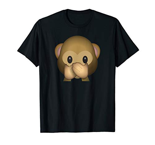T-Shirt Emoji Monkey Speak no Evil