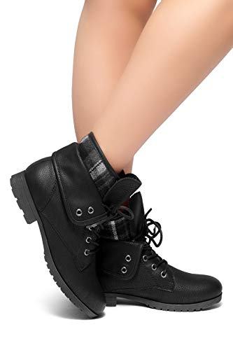 Herstyle Slgabrianna Expedition Women's Military Combat Boots Black 8 ()