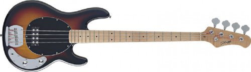 B Series Bass Guitar - Stagg MB300-SB B Series Vintage Style Bass Guitar Sunburst