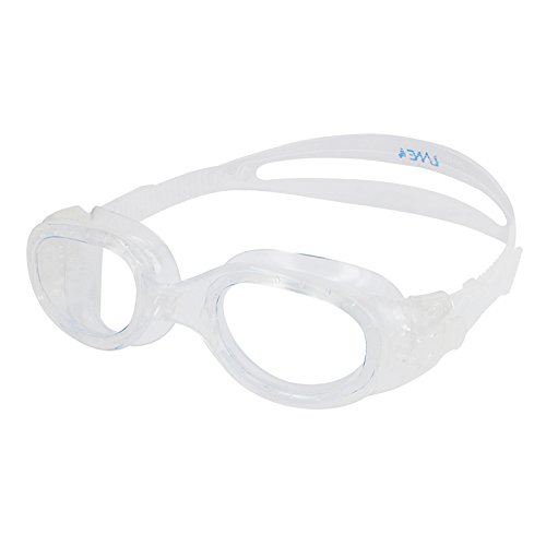 Lane4 Swim Goggle - Flat Lenses Streamline Design, Anti-fog UV Protection,Easy adjusting Comfortable Leak proof, Recreation and fitness for Adults Men Women A32720(Blue/Clear)