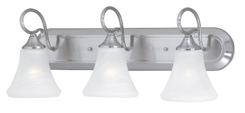 Elk Lighting SL744378 Elipse 3-Light Lamp in Brushed Nickel Vanity Wall Sconce (Bulbs 3 Collection)