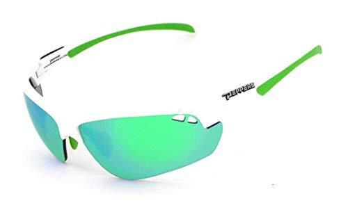 Peppers Sunglasses - Frontline / Frame: Raw White Lens: Green Mirror (Raw Eyewear)