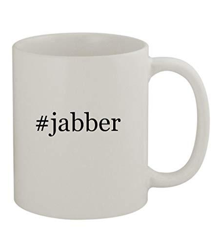 #jabber - 11oz Sturdy Hashtag Ceramic Coffee Cup Mug, White -
