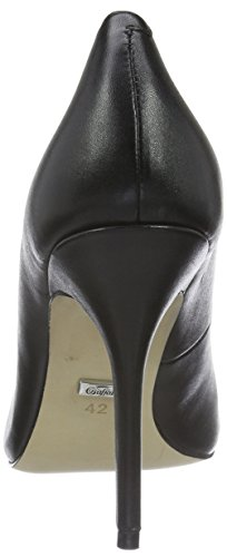 Buffalo London 112-1211 Damen Pumps In Pelle Di Seta Schwarz (nero 01)