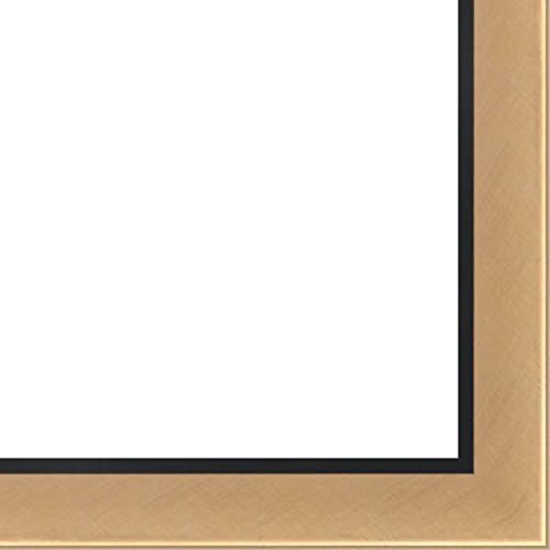 Trim Gold Thin (11x17 Gold w/ Black Trim Two-Tone Wood Frame - 'CityScapes' Thin - Great for Posters, Photos, Art Prints, Mirror, Chalk Boards, Cork Boards and Marker Boards)
