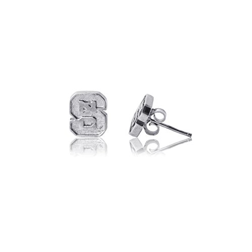 Wolfpack Gift State - NC State University Wolfpack NCSU Sterling Silver Jewelry by Dayna Designs (Stud Earrings)
