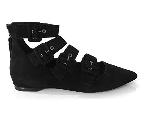 Midnight ASH Baby Black Ballerina Scamosciate Soft Taglia 36 AwZavxwq4