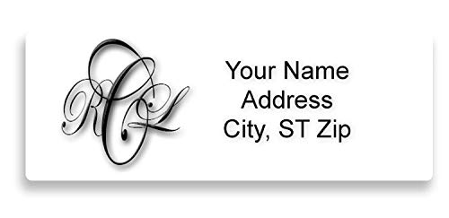 Personalized Return Address Labels 120 Count - Monogram Large Labels 2 5/8
