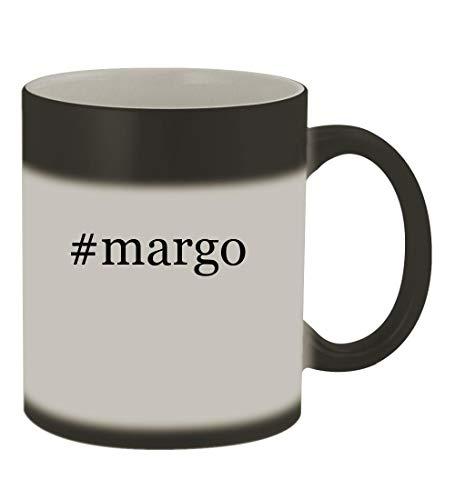 #margo - 11oz Color Changing Hashtag Sturdy Ceramic Coffee Cup Mug, Matte Black