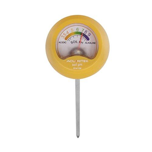 (AcuRite 01411M Soil pH Meter, Yellow)