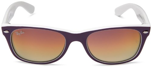 Violet New hombre white Brown Gradient Ban Multicolor Violet Gafas para Frame Crystal sol Mirror de Wayfarer Ray q6Zn5dw0T5