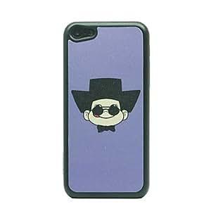 Conseguir Patrón Dibujo Sombrero Negro Little Man duro caso para iPhone 5C