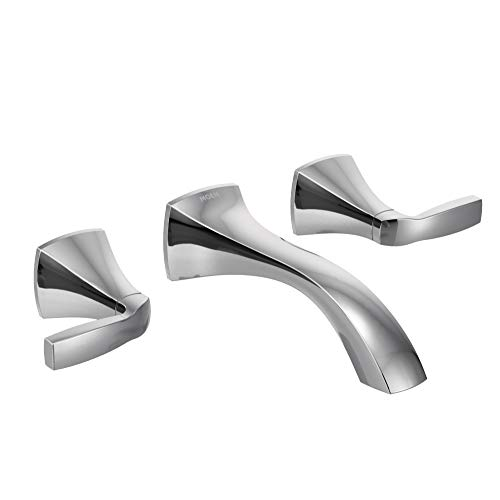 Moen T6906 Voss Collection Two-Handle Wall Mount Bathroom Faucet Trim Kit without Valve, Chrome ()