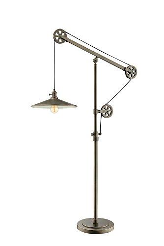 Lite Source Garrad Antique Silver Floor Lamp