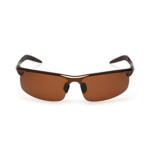 ELITERA Sport Polarisierte Sonnenbrillen Herren Aluminium Magnesium Gläser E8177 (Grau&Grau) epyEHI