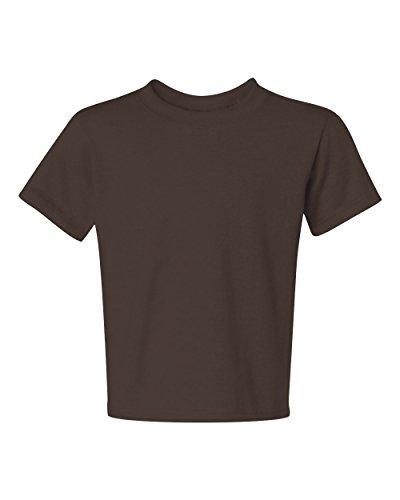 Jerzees Youth Heavyweight Blend T-Shirt, Chocolate, Large (Jerzees Heavyweight Blend Youth)